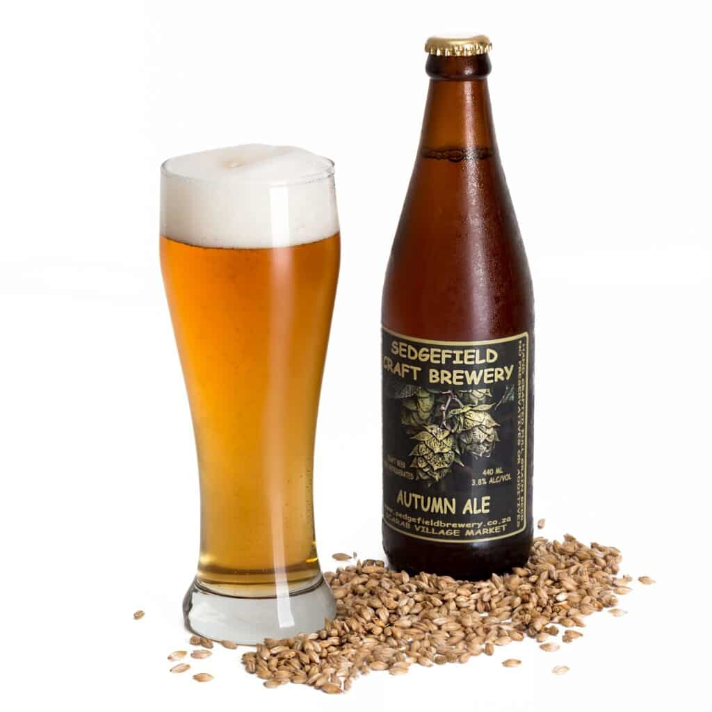 bouteille de bière blonde